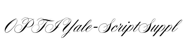 OPTIYale-ScriptSuppl  Descarca Fonturi Gratis