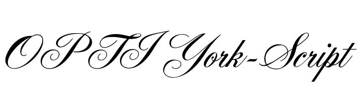 OPTIYork-Script  Free Fonts Download