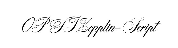 OPTIZepplin-Script  Free Fonts Download