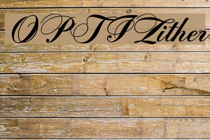 OPTIZither Font examples