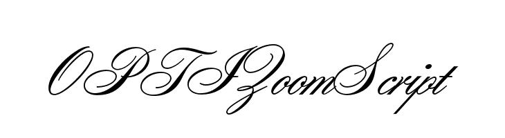OPTIZoomScript  Free Fonts Download
