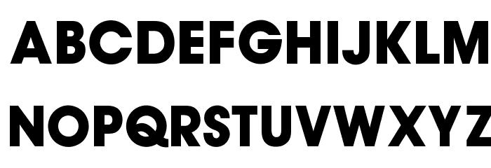 OPTIsupAuvantGothicBold फ़ॉन्ट अपरकेस