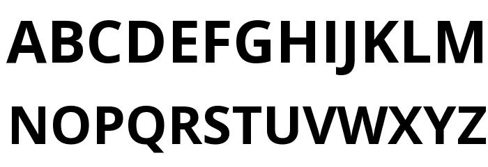 Open Sans Bold Font UPPERCASE