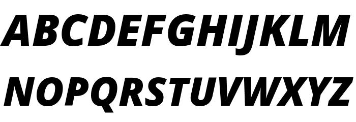 Open Sans Extrabold Italic Font UPPERCASE