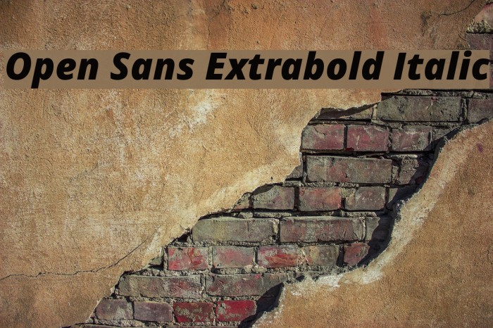 Open Sans Extrabold Italic Font examples