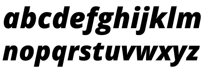 Open Sans Extrabold Italic Font LOWERCASE