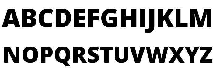Open Sans Extrabold Font UPPERCASE