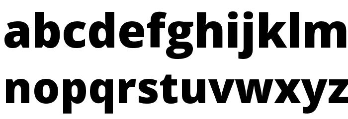 Open Sans Extrabold Font LOWERCASE