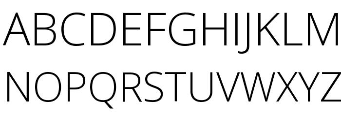 Open Sans Light Font UPPERCASE