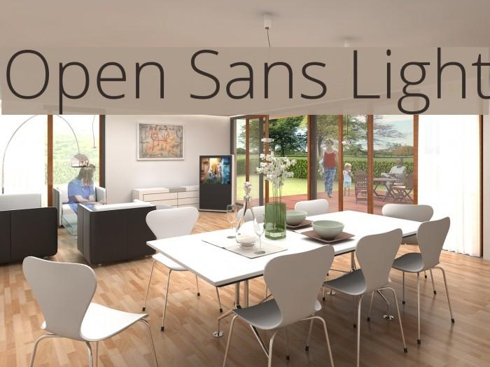 Open Sans Light Font examples
