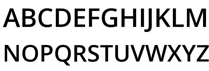 Open Sans Semibold Font UPPERCASE