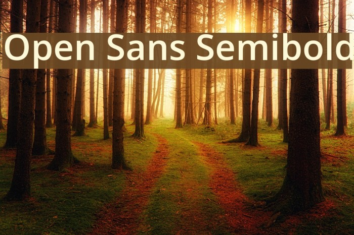 Open Sans Semibold Font examples