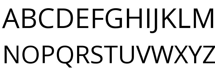 Open Sans Font UPPERCASE
