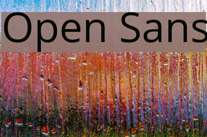 Open Sans Font examples