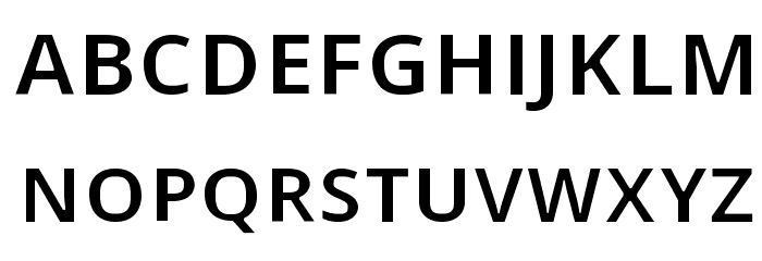 Open Shqip Sans Font UPPERCASE
