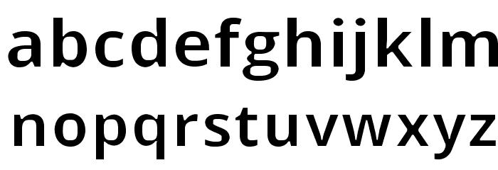 Open Shqip Sans Font LOWERCASE