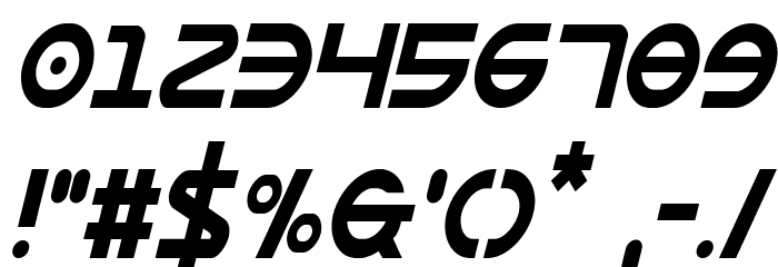 Opilio Condensed Italic Font OTHER CHARS