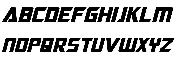 Optimus Bold Italic Font UPPERCASE