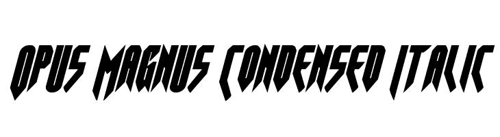 Opus Magnus Condensed Italic  Frei Schriftart Herunterladen
