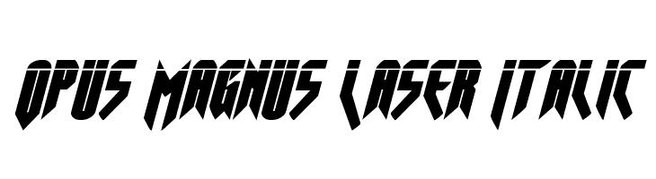 Opus Magnus Laser Italic  Frei Schriftart Herunterladen