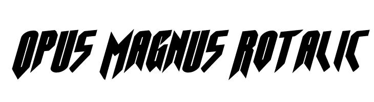 Opus Magnus Rotalic  Frei Schriftart Herunterladen