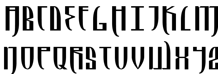Opus Font LOWERCASE