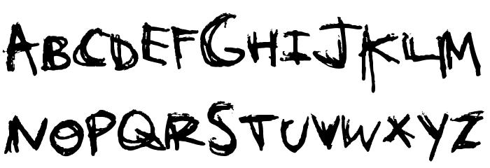 Orange Book Font UPPERCASE