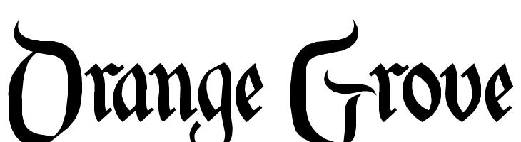 Orange Grove Font