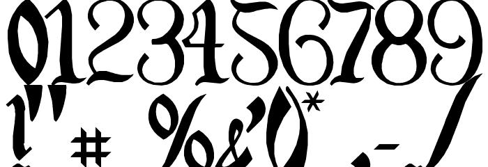 Orange Grove Font OTHER CHARS