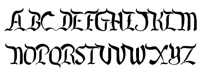 Orange Grove Font UPPERCASE