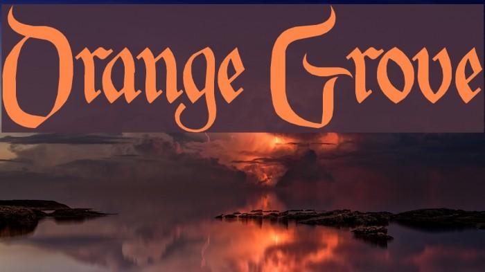 Orange Grove Font examples
