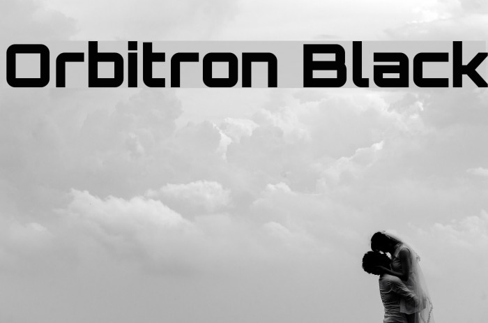 Orbitron Black Font examples