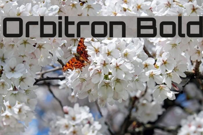 Orbitron Bold Font examples