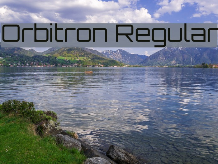 Orbitron Regular Font examples