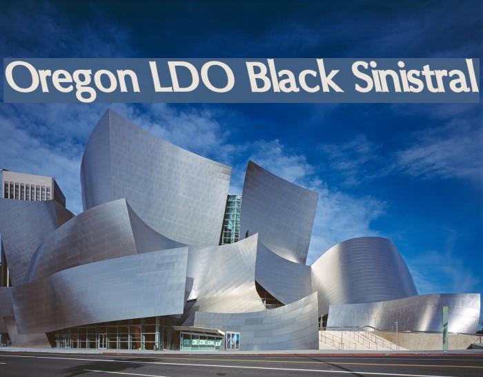 Oregon LDO Black Sinistral Fonte examples