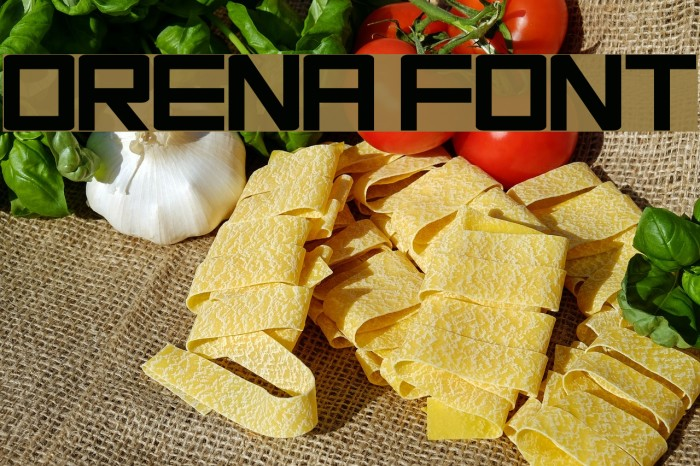 Orena Font examples