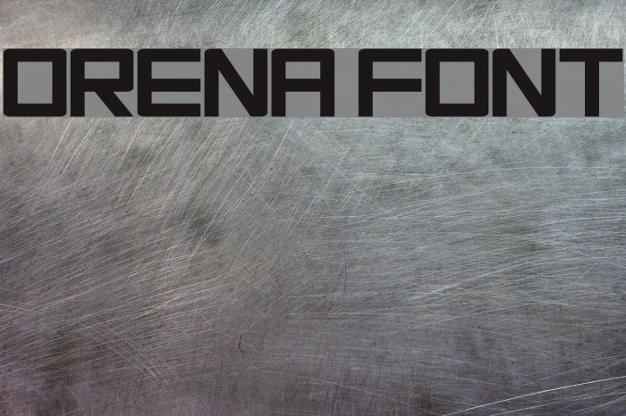 Orena फ़ॉन्ट examples