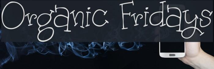 Organic Fridays Fonte examples