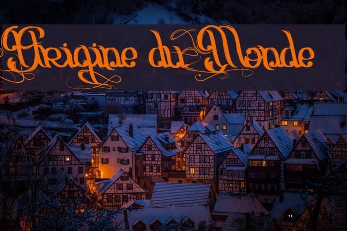 Origine du Monde Font examples