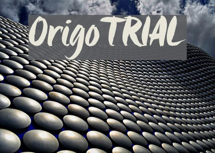 Origo_TRIAL Шрифта examples