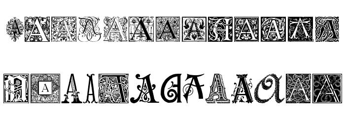 ornamental initials a font