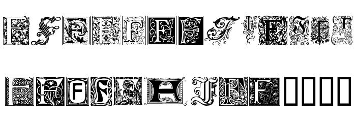 Ornamental Initials F Font UPPERCASE