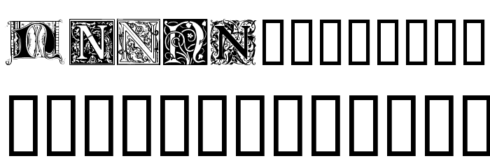 Ornamental Initials N Font LOWERCASE