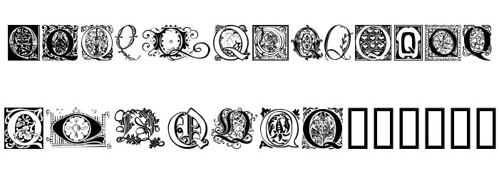 Ornamental Initials Q Font UPPERCASE