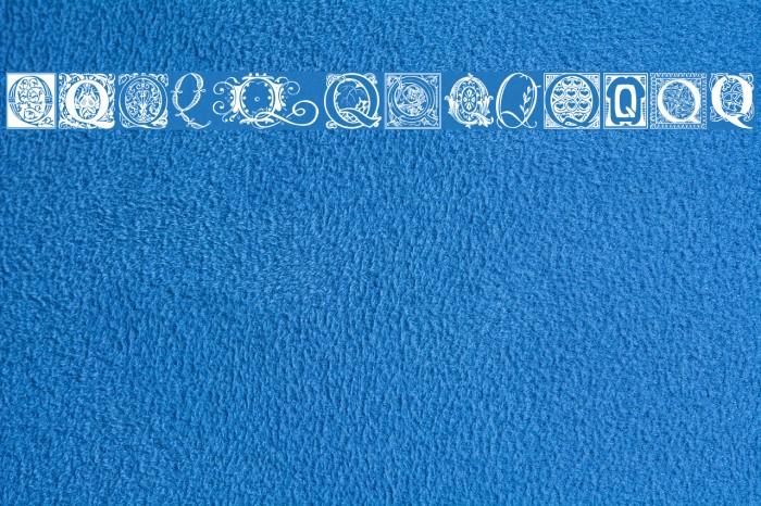 Ornamental Initials Q Font examples