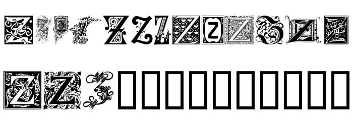 Ornamental Initials Z Font UPPERCASE