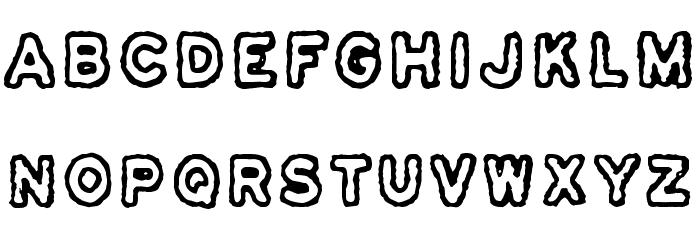 Osasto 329 suljettu Font UPPERCASE