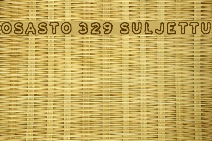 Osasto 329 suljettu Font examples