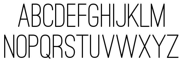 Ostrich Sans Rounded Medium Font UPPERCASE