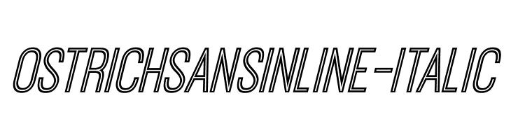 OstrichSansInline-Italic Font
